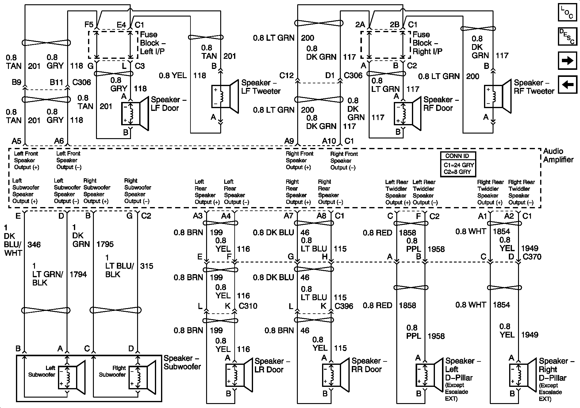 2002 cadillac escalade radio wiring diagram
