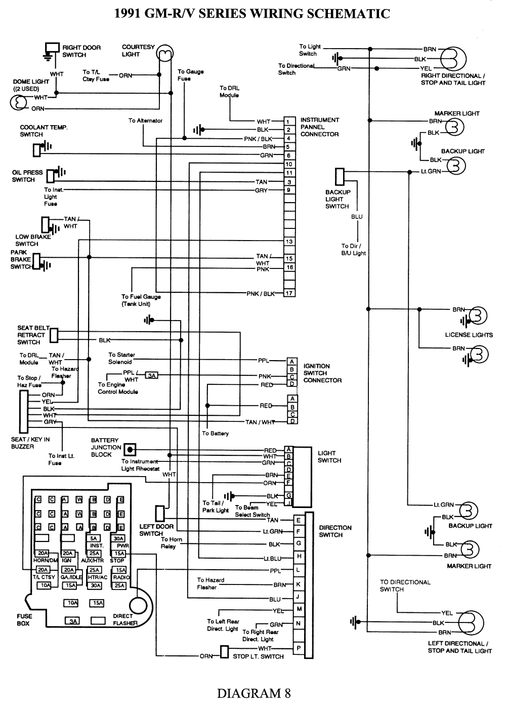 chevy suburban tail light wiring diagram
