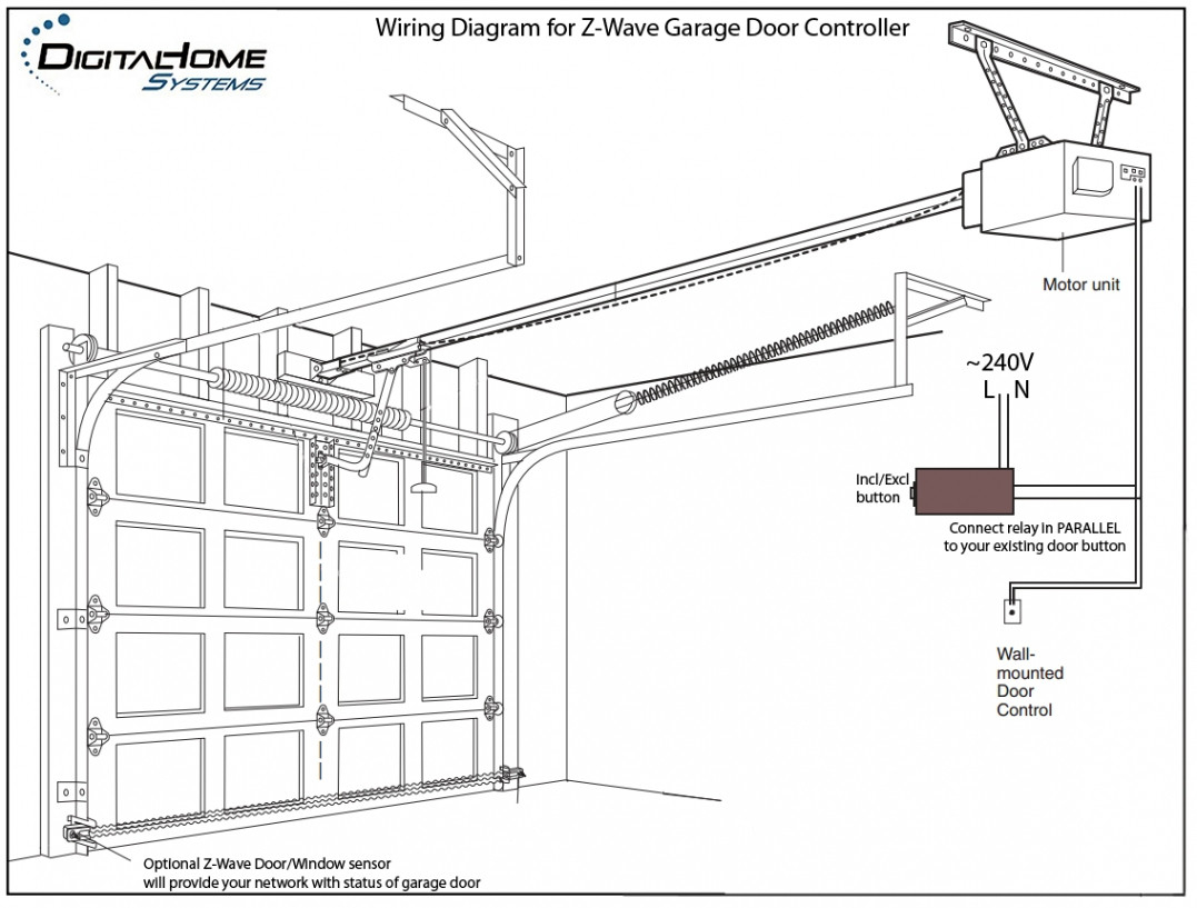 genie garage door sensor wiring diagram