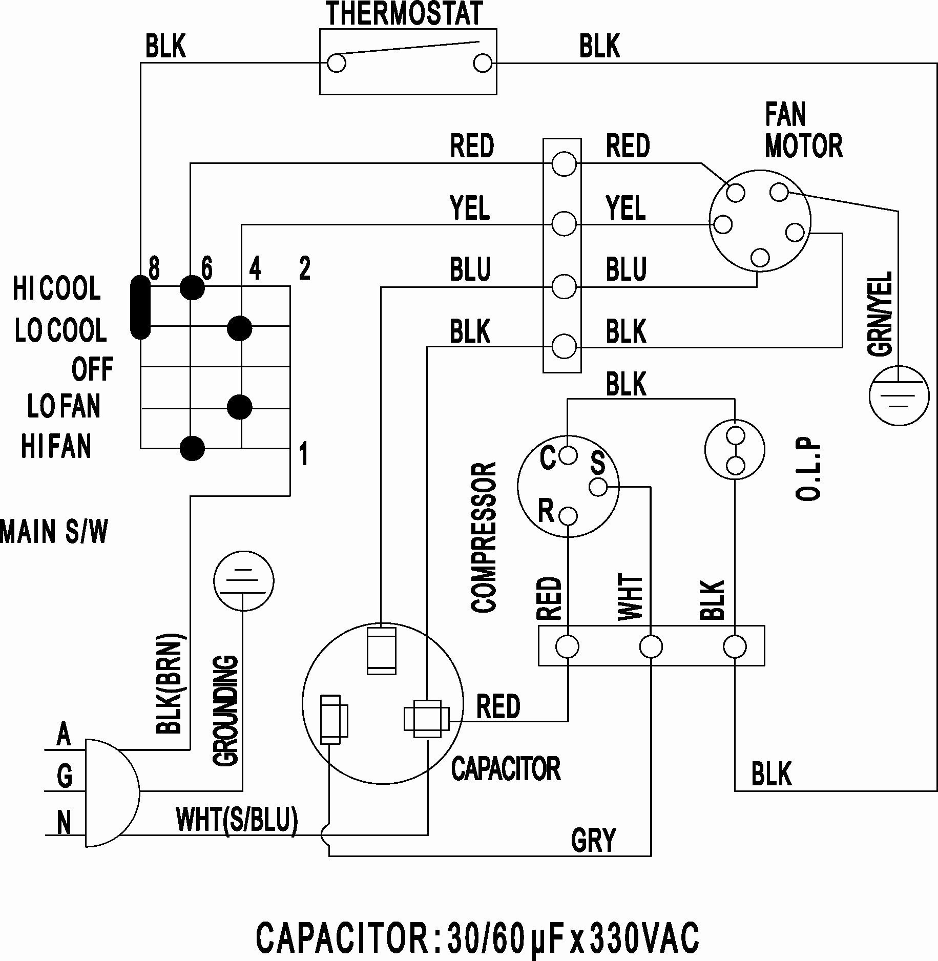carrier a c condenser wiring diagram