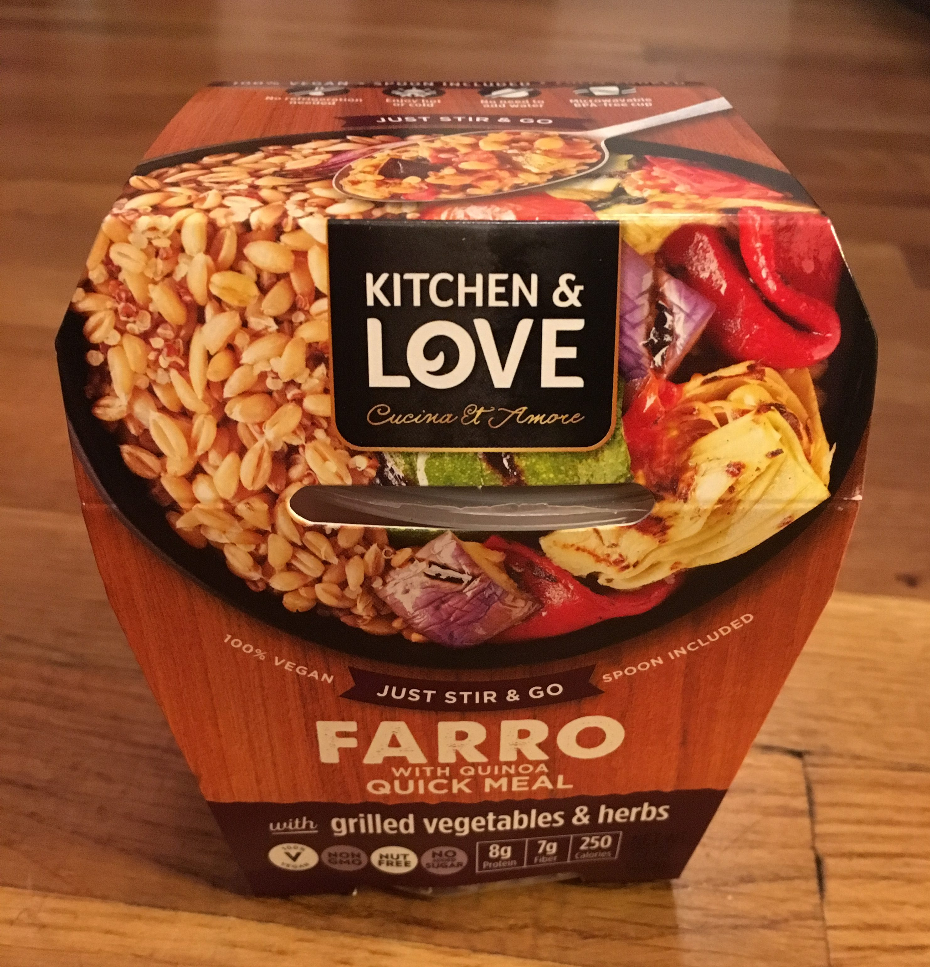 Cucina And Amore Quinoa Review Product Review Cucina Amore Ready To Eat Farro Meals The