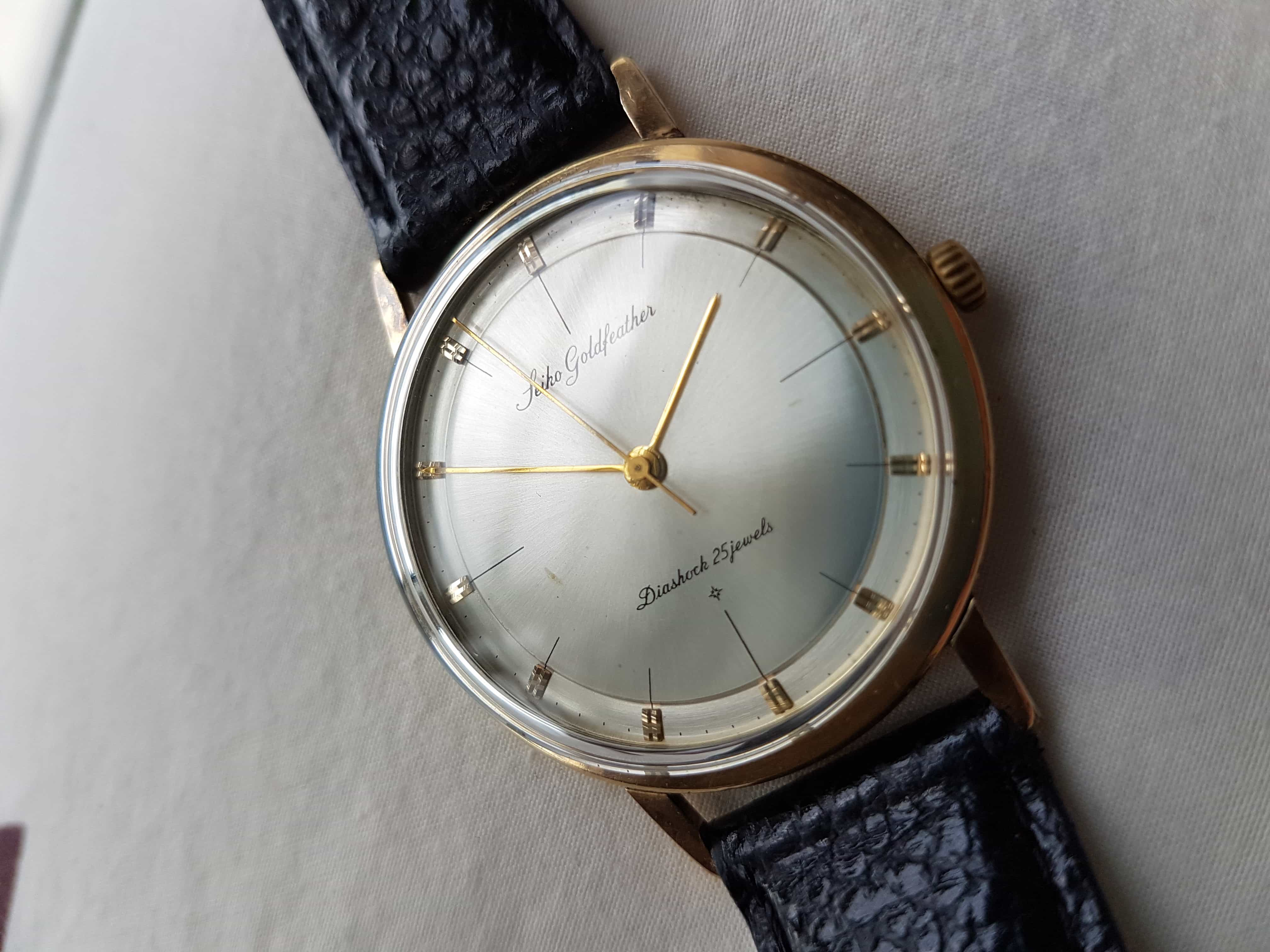Credence Vintage Affordable Vintage The Ultra Thin 60s Seiko Goldfeather Worn