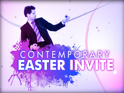 Contemporary Easter Invite Hyper Pixels Media WorshipHouse Media