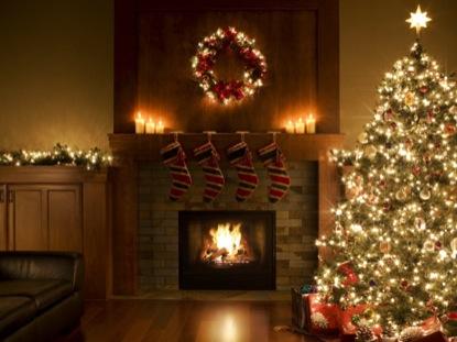 Christmas Fireplace Scene Motion Worship Worshiphouse