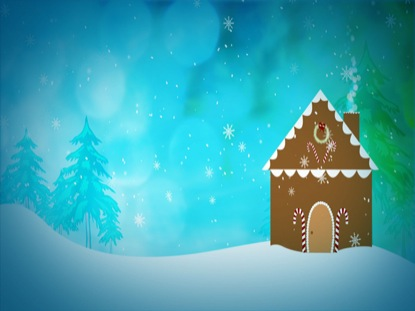 Falling Anow Wallpaper Gingerbread House Pixelgirl Media Motion Backgrounds
