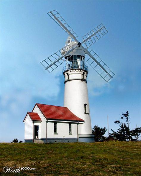 Lighthouse/windmill