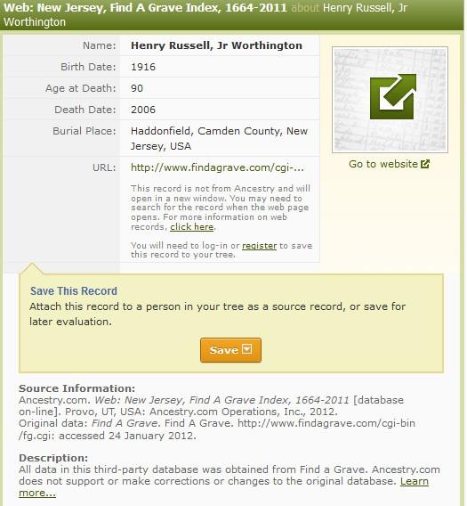 Mastering Genealogical Proof\u2013Find-A-Grave A Worthington Weblog - support ancestry com
