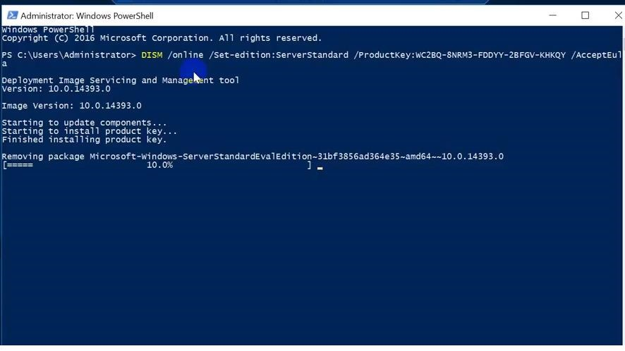 How to Upgrade Windows Server 2016 Evaluation to Full Version