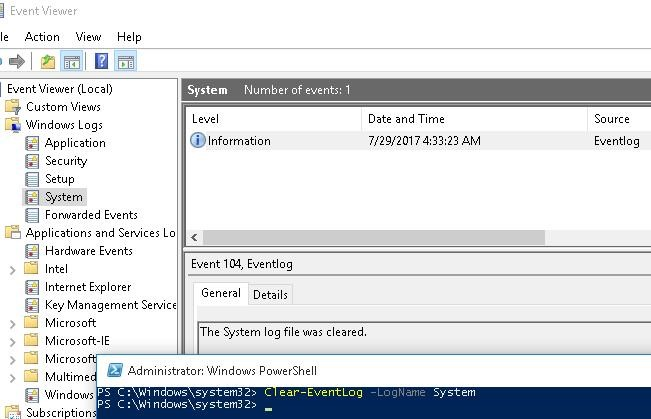 How to Clear Windows Event Logs Using PowerShell or Wevtutil