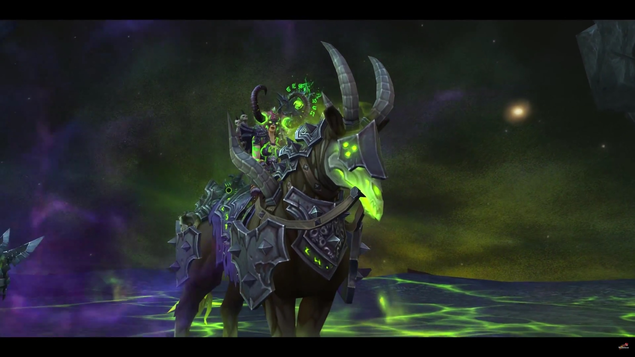 Fall Of The Lich King Wallpaper Warlock Class Mount And Quests Netherlord S Dreadsteed