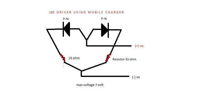 led light circuit diagram on 2 wire red leds
