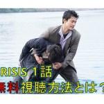 CRISIS 見逃しても無料で1話動画を見る方法!ドラマはユーチューブで削除済み!