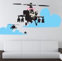 Banksy Happy Choppers Wall Sticker