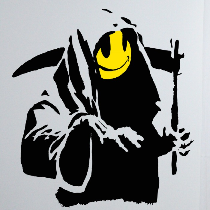 The Yellow Wallpaper Nursery Quotes Banksy Smiley Grim Reaper Sticker Art