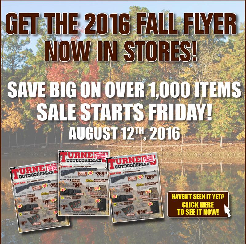 Turner\u0027s 2016 Fall Flyer Starts Today BDoutdoors
