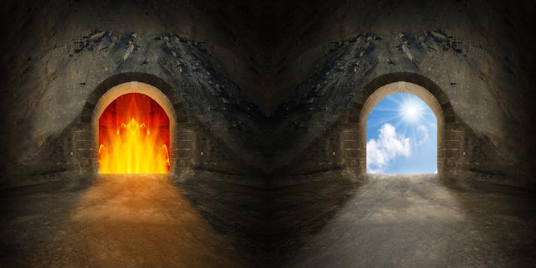 Pictures Of The Real God Two Gates To Heaven And Hell Choice Concept Benjamin L Corey
