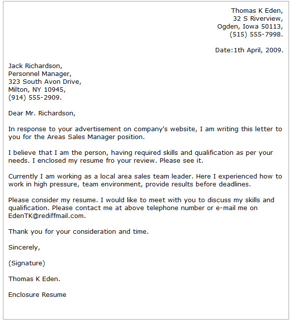 Business Cover Letter Examples - Cover Letter Now - Writing A Cover Letter Examples