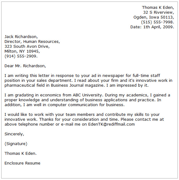 Business Cover Letter Examples - Cover Letter Now