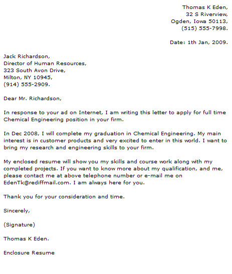 Engineer Cover Letter Examples - Cover Letter Now - enclosure cover letter
