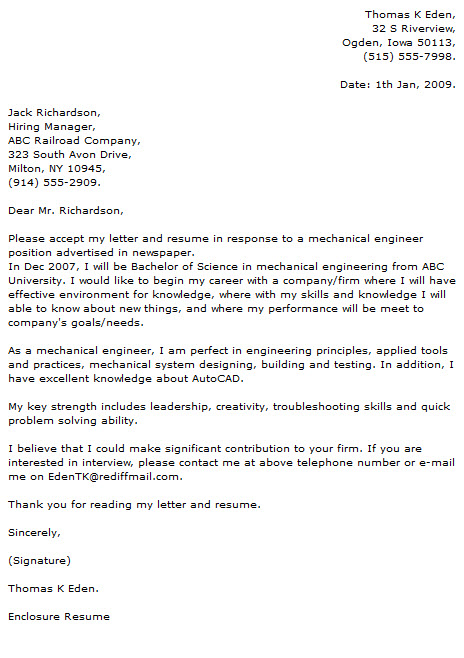 Engineer Cover Letter Examples - Cover Letter Now - engineering cover letter examples