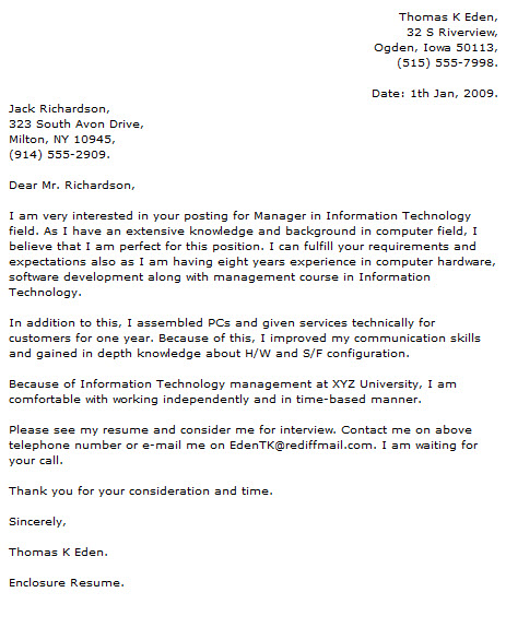 information technology it cover letter examples xv-gimnazija