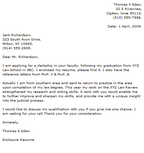 Attorney Cover Letter Examples - Cover Letter Now - enclosed is my resume