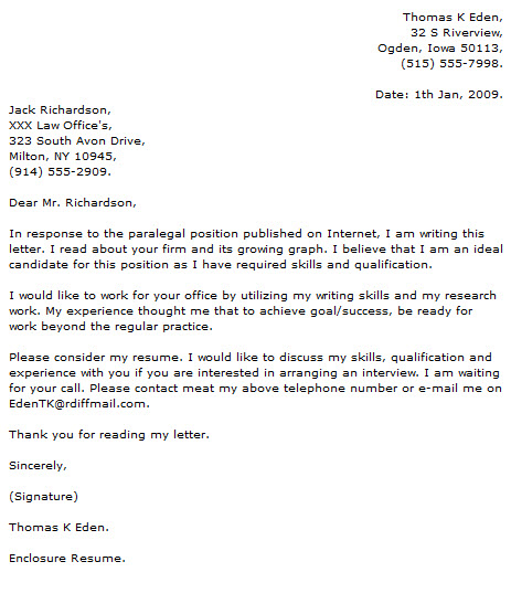 Paralegal Cover Letter Examples - Cover Letter Now - cover letter paralegal