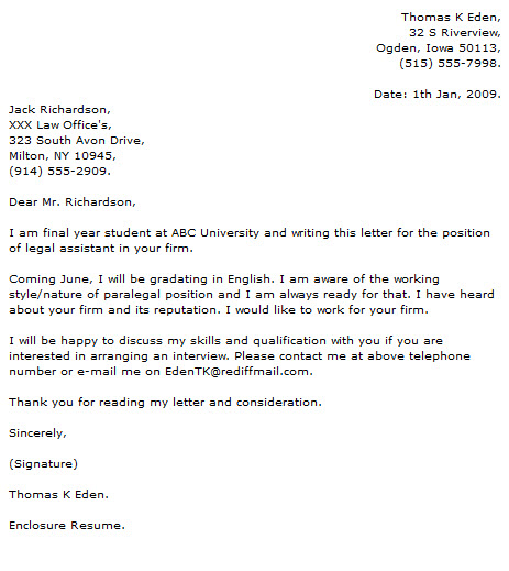 Paralegal Cover Letter Examples - Cover Letter Now - paralegal cover letter examples