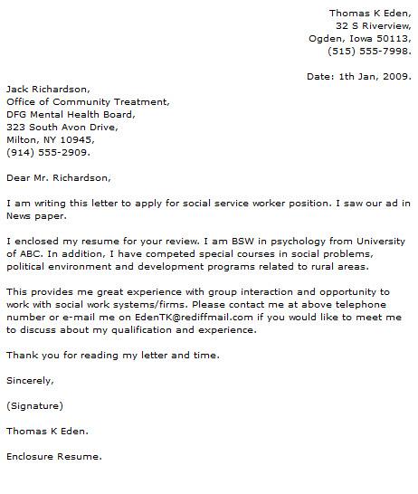 social work internship cover letter - Ozilalmanoof - cover letter social work
