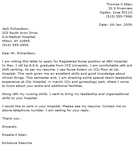 Medical Cover Letter Examples - Cover Letter Now - does my resume need a cover letter