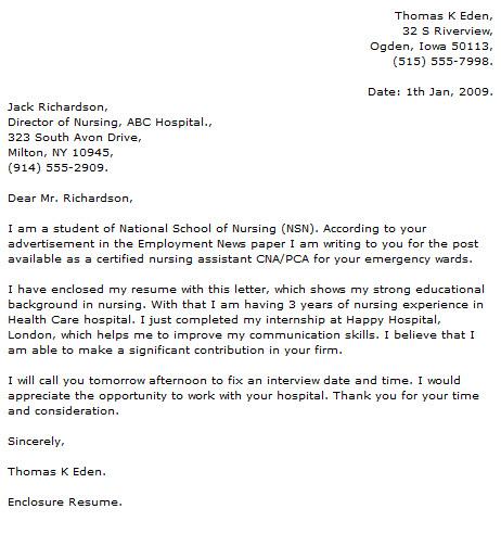 Nursing Cover Letter Examples - Cover Letter Now