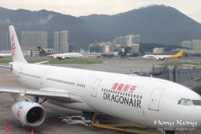 Hong Kong's airport is truly an engineering marvel, sitting on reclaimed land, next to these mountains. It is also one of the world's busiest airports.