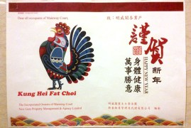 This year, Chinese New Year started during our conference. As this poster in our apartment lobby proclaims, we are now in the Year of the Rooster!