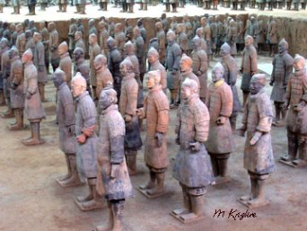 Each life-sized clay figure is distinct; some believe they were modeled after individuals in Emperor Qin's army.