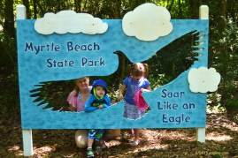 South Carolina was nice enough to give us this beautiful park along the beach, with several things kids can do. The kids were too interested in getting started to pose for a photo.