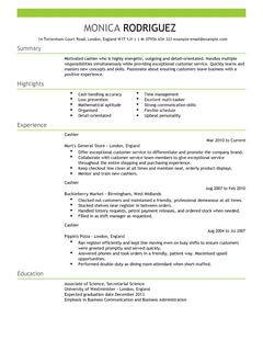 Sales Associate Resume Sample Job Interview Career Guide Cashier Cv Example For Sales Livecareer