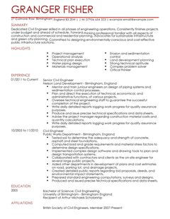 Curriculum Vitae Qualifications Werneth School Civil Engineer Cv Example For Engineering Livecareer