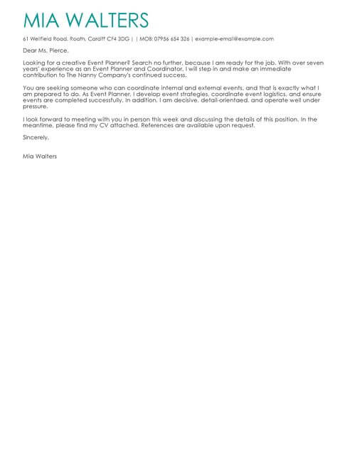 The Best Cover Letter Templates \ Examples LiveCareer - personal assistant cover letter