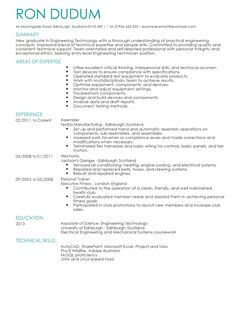 Job Resume Doc 40 Best Free Resume Templates 2017 Psd Ai Doc Engineering Technician Cv Example For Engineering Livecareer