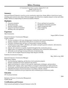 Creative Leicestershire Jobs And Commissions Contractor Resume Examples Resume Format 2017