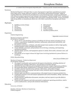 Sample Resume Cover Letter Healthcare Free Resume Samples Cover Letter Samples And Tips Mechanical Engineer Cv Example For Engineering Livecareer
