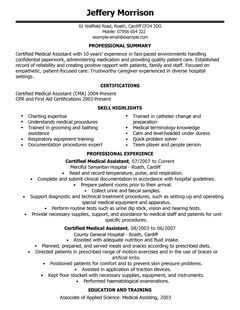 Classic Cv Template Careers Advice Jobsacuk Medical Assistant Cv Example For Healthcare Livecareer