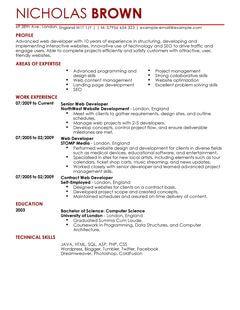 Sample Resume Senior Web Developer Senior Web Developer Resume Samples Visualcv Resume Web Developer Cv Example For It Livecareer