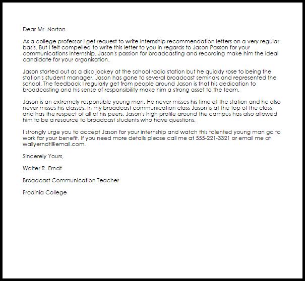 2018 Sports Internships Internships Internship Recommendation Letter Recommendation Letters