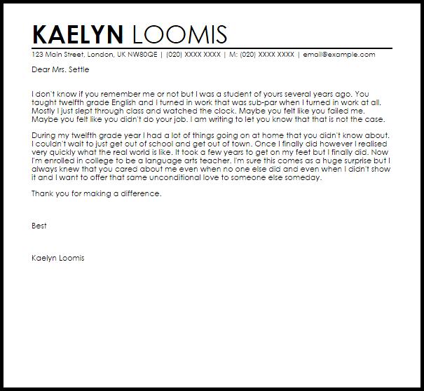 Teacher Resume Samples Writing Guide Resume Genius Teacher Appreciation Letter From Student Livecareer
