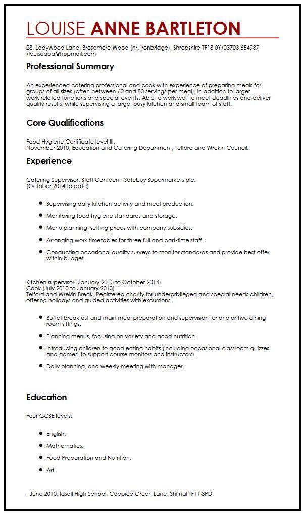 Chronological CV Example MyperfectCV