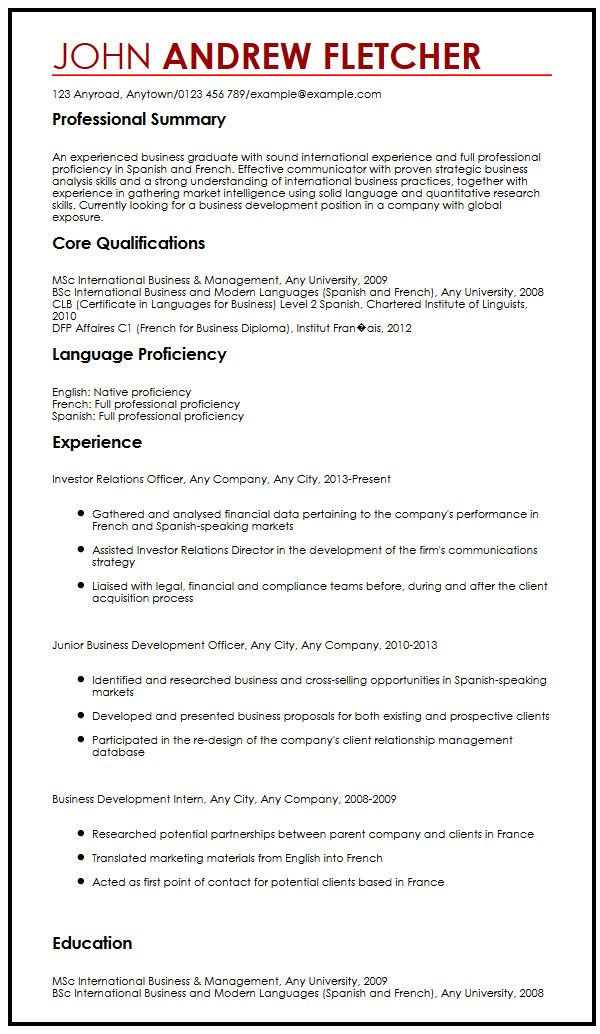 Example Skills Resume Language Skills Resume The Best Resume - sample skills for resume