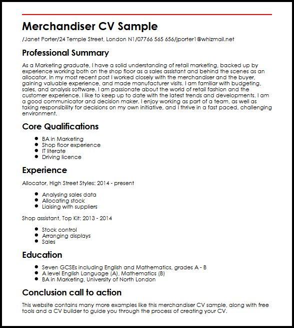 merchandiser cv - Ukranagdiffusion