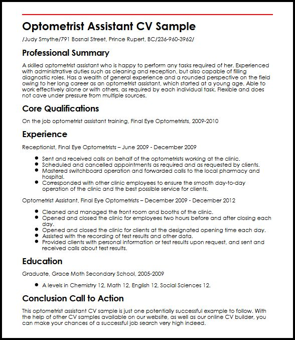 resume examples for receptionist career objective for marketing position business powerpoint