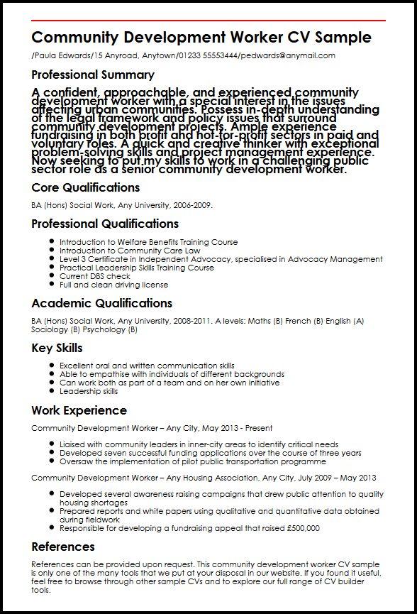 Community Development Worker CV Sample MyperfectCV - Advocacy Officer Sample Resume